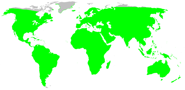 Wolf Spider Distribution Map