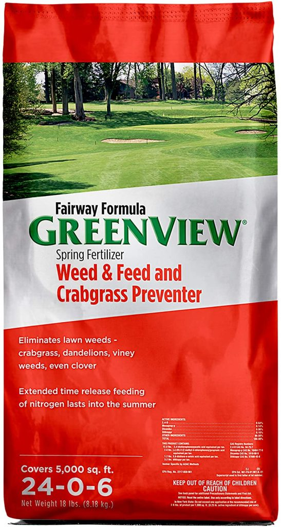 GreenView 2129267 Fairway Formula Spring Fertilizer Weed & Feed + Crabgrass Preventer