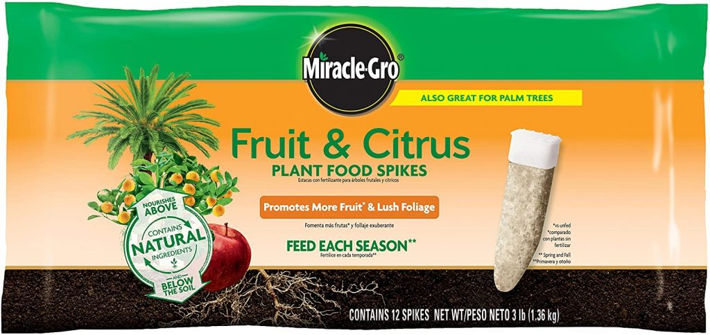 Miracle-Gro Fruit & Citrus Plant Food Spikes