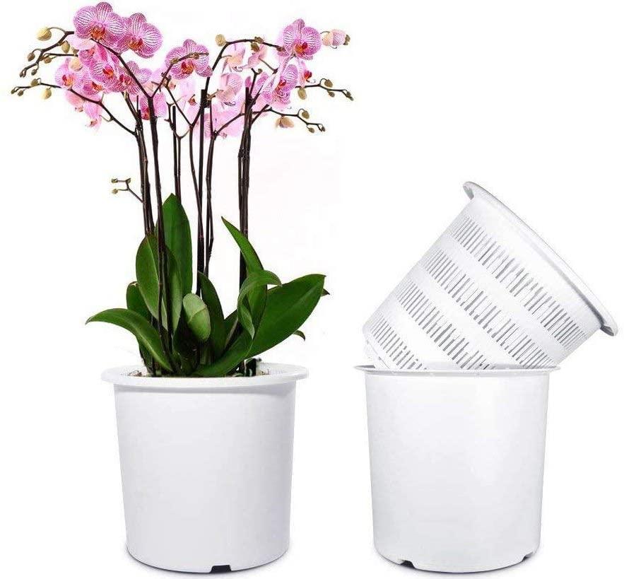Mkono 7 Inch Plastic Orchid Pot