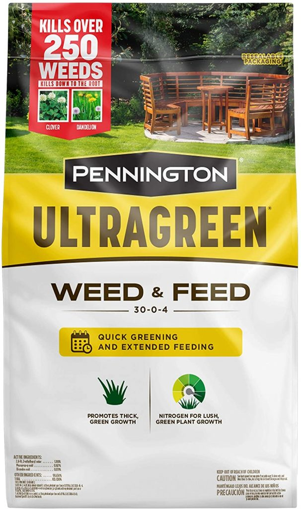 Pennington 100536600 UltraGreen Weed & Feed Lawn Fertilizer