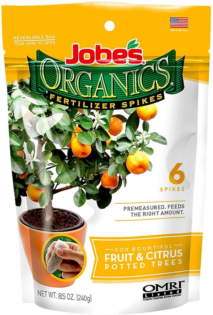 potted citrus fertilizer spike