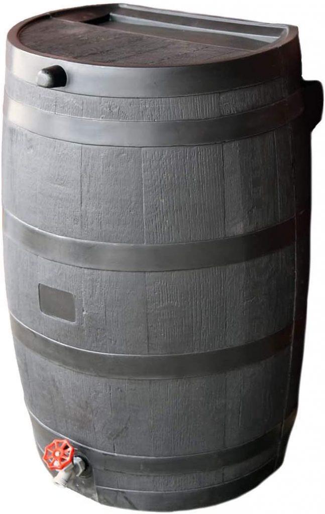 RTS flat back rain barrel