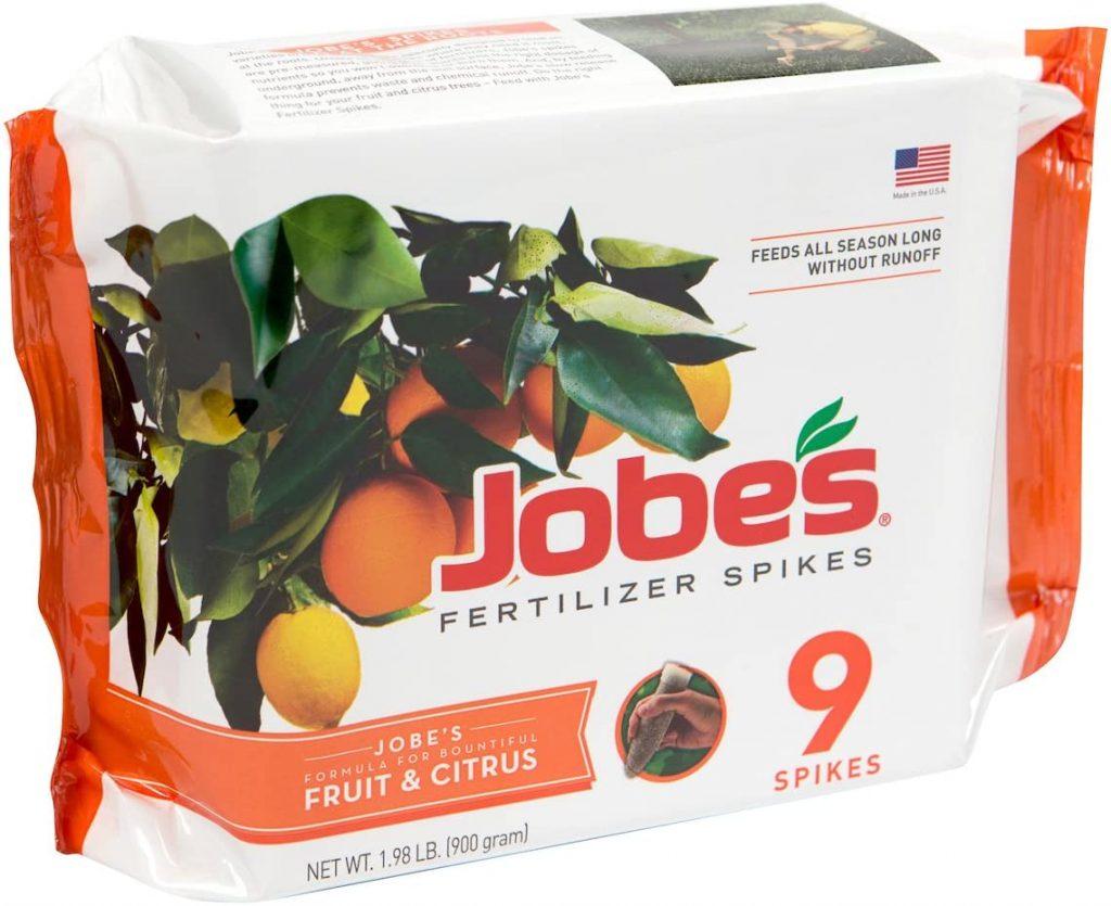 Jobes fruit and citrus fertilizer spikes