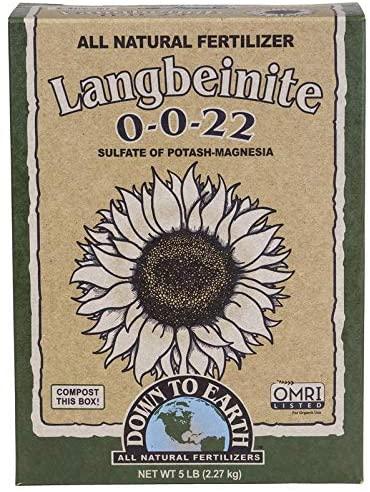 Down to Earth Organic Langbeinite Fertilizer Mix