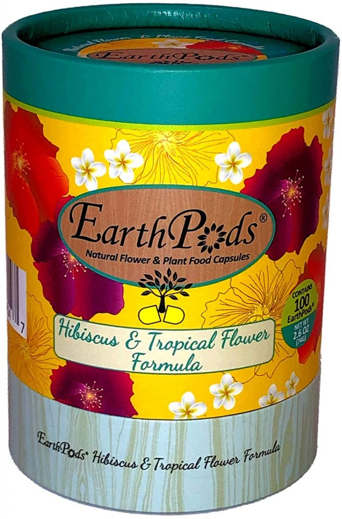 EarthPods Premium Hibiscus & Tropical Flower Plant Food – Easy Organic Fertilizer Spikes