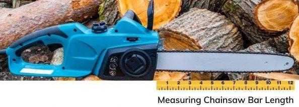 Measuring Chainsaw Bar Length